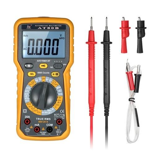 Multimetro digitale automobilistico LCD multimetro DMM 6000 conteggi Display True RMS Auto Range Corrente di misura tensione AC / DC Resistenza Meter Tester di capacità elevata