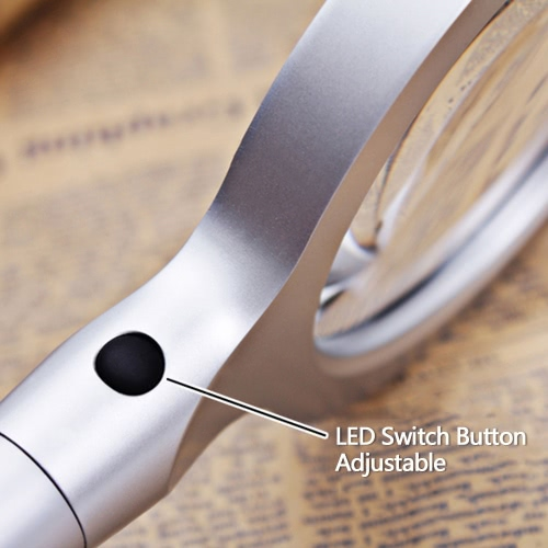 85mm 2.5X/5X Multifunctional Magnifier Portable Handheld Glass Loupe Magnifying Tool with 12 LED Light