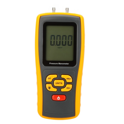 GM510 Portable USB Digital LCD Pressure Manometer Gauge Differential Pressure Manometer Measuring Range 10kPa