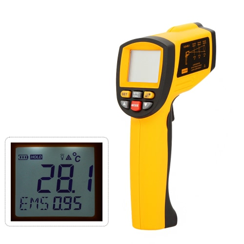GM1150A Non-Contact 50:1 Digital Infrared IR Thermometer Laser Temperature Gun Tester Range -18~1150℃ (0~2102℉) with LCD Backlight