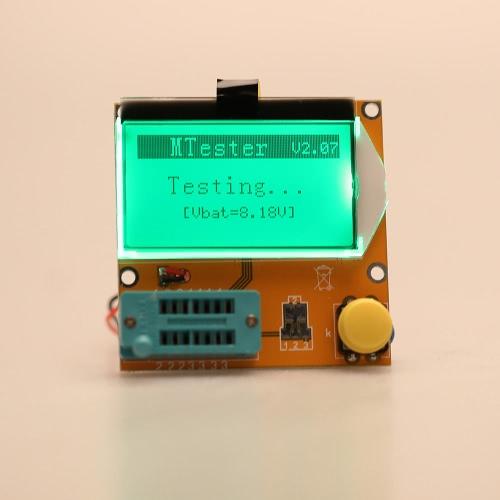 Contraluz del LCD multifuncional Transistor Tester diodo triodo capacitancia medidor ESR MOS PNP NPN LCR