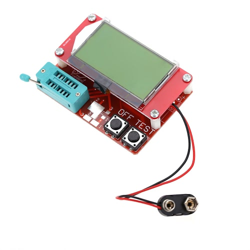 Multi-functional LCD Backlight Transistor Tester Diode Thyristor Capacitance ESR LCR Meter Two-button Operation