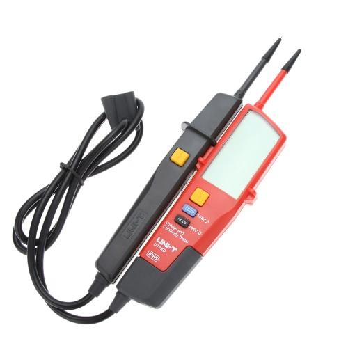UNI-T UT18D Auto Range Spannungs- und Durchgangsprüfer mit LCD-Hintergrundbeleuchtung Datum halten RCD Test und Selbstkontrolle