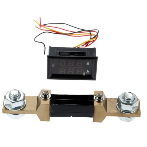 DC100V 300A 2 in 1 Digital Voltage Current Tester Meter