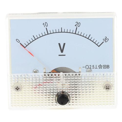 Dc0-30V analogique tension panneau compteur testeur voltmètre manomètre