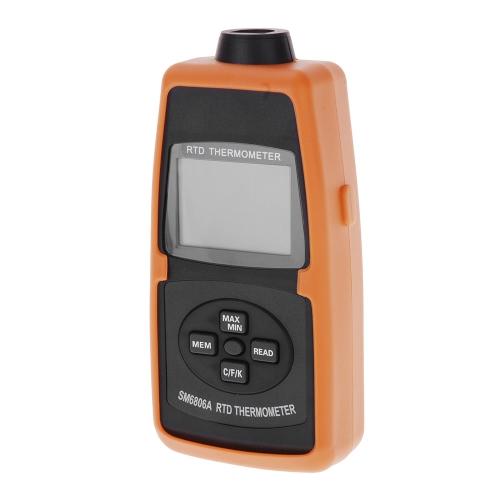Precise PT100 Thermometer Resistance Temperature Detector Measuring Range -200~600 Degree SM6806A