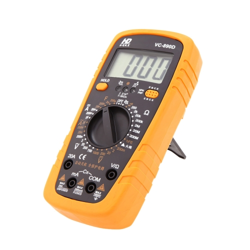 HD VC-890D Handhold Auto Power off Digital Multimeter with Test Lead and Data Hold Function