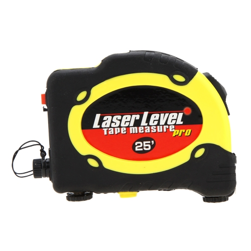 7.5m Measuring Tape Lasern LV-07 Level Pro 3 Measuring Equipment with 2 Way Level Bubbles and Laser Power On/Off