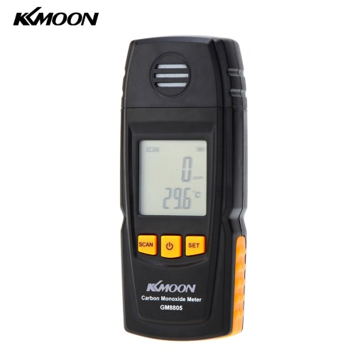 KKmoon Handheld Carbon Monoxide Meter with High Precision CO Gas Tester Monitor Detector Gauge 0-1000ppm GM8805