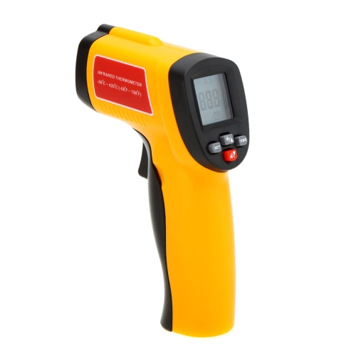 GM300E Non-Contact Digital IR Infrared Thermometer Laser Point Temperature Gun Tester Range -50~420 Degrees Celsius with LCD Backlight