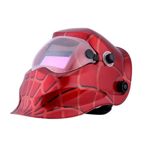 Teia de aranha vermelha profissional Solar soldadura capacete Auto escurecimento máscara de solda