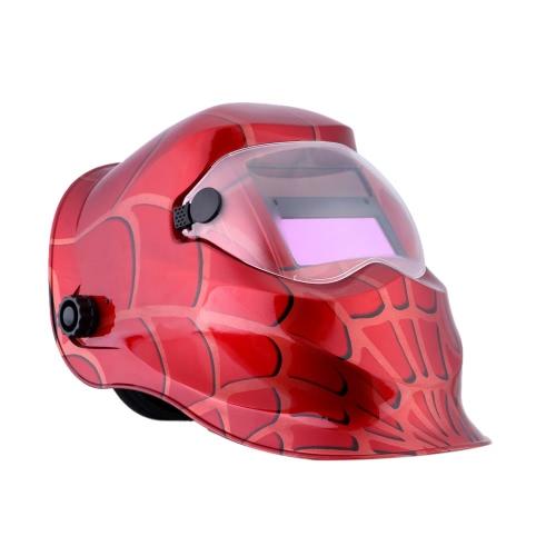 Профессиональный шлем солнечной сварки красной паутины
