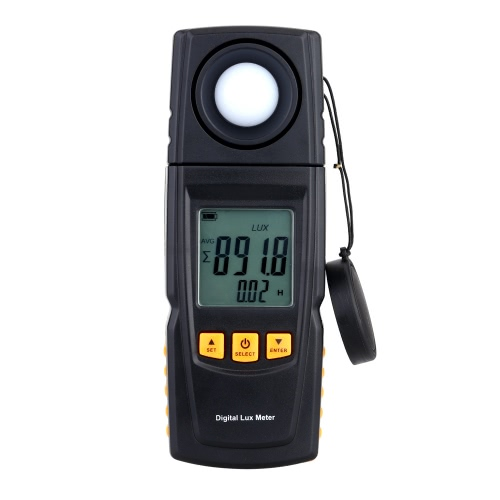 Hand Digital Light Meter Illuminance messen Tester 200000 Lux Photometer mit LCD-Hintergrundbeleuchtung