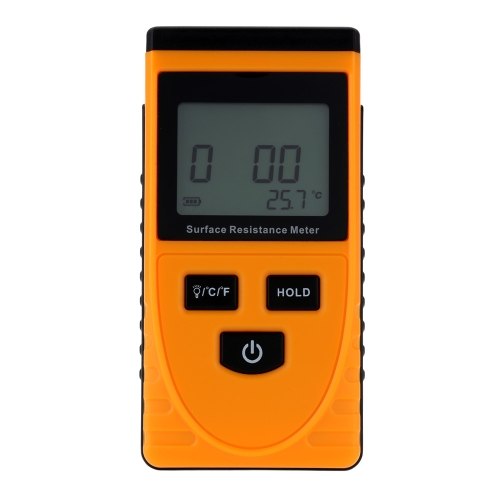 Handheld Surface Resistance Meter Tester with LCD Display Temperature Measurement Data Holding