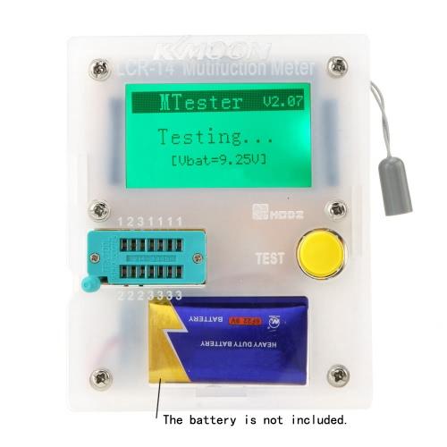 KKmoon 128*64 Pocketable Transistor Tester Capacitance ESR LCR Diode Triode Triac MOS Meter with LCD Backlight
