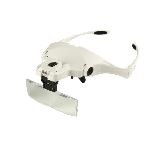 5 Lens 1.0X-3.5X Adjustable Headband Glasses Magnifier Loupe