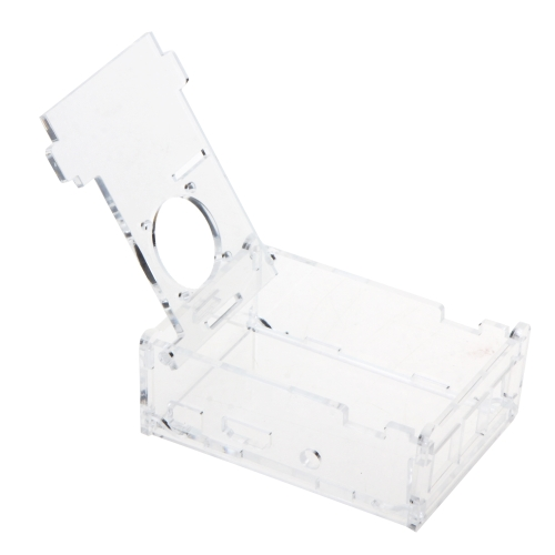 ラズベリー Pi 2 モデル B + サポート ファン取り付けのケース カバー透明なシェル ボックスをオフします。
