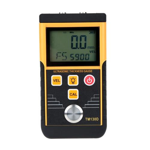 1.2-225mm espessura ultra-sônico Digital calibre Tester profundidade medidor Display LCD alta precisão