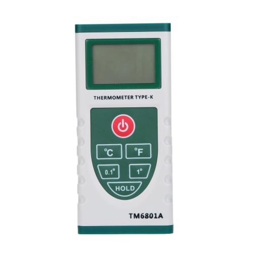 °C/°F Digital Thermometer Pyrometer Temperature Meter K Type Probe High Precision
