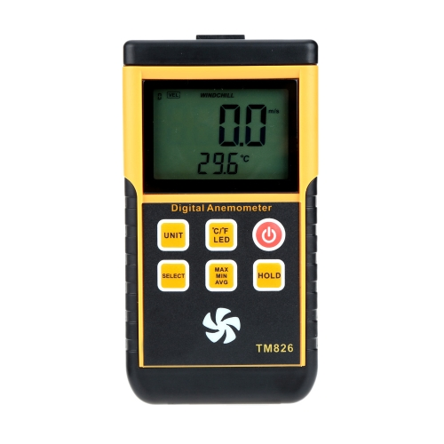 0-45m/s Portable Digital Anemometer High Precision LCD Display Wind Speed Air Velocity Temperature Measuring Meter