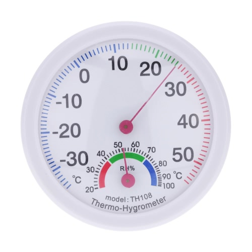 -35~55°C Mini Indoor Analog Temperature Humidity Meter