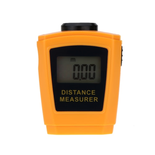 18m Digital Handheld Ultrasonic Distance Meter Range Finder Measure Diastimeter with Laser