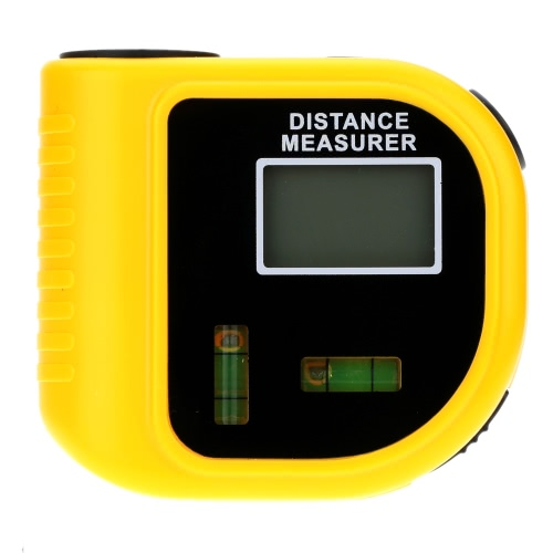 18m Digital Handheld Ultrasonic Distance Meter Range Finder Measure Diastimeter with Laser Point