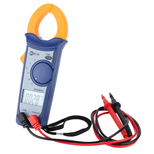 Digital AC/DC Current Voltage Resistance Frequency Clamp Meter Multimeter Temperature Measurement Auto Range