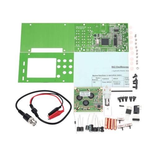 LCD Digital Storage Oscilloscope/Frequency Meter DIY Kit with Professional BNC Probe USB Interface DSO 20MSa/s 3MHz
