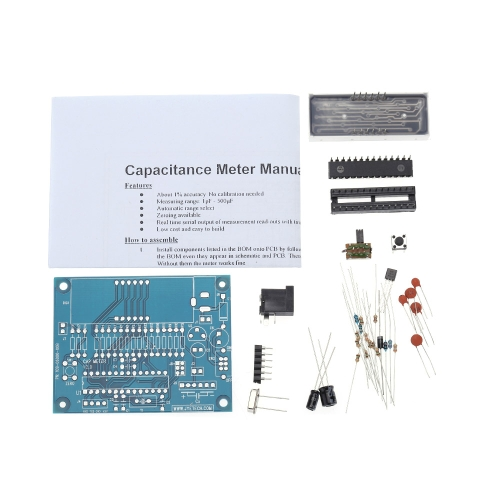 High Precision Digital Capacitance Meter DIY Kit 1pF-500uF Auto Range Switch