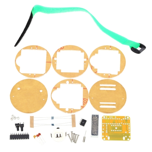 SCM ehrfürchtig transparente LED-Uhr DIY LED Digital Tube Armbanduhr elektronische Uhr DIY Kit