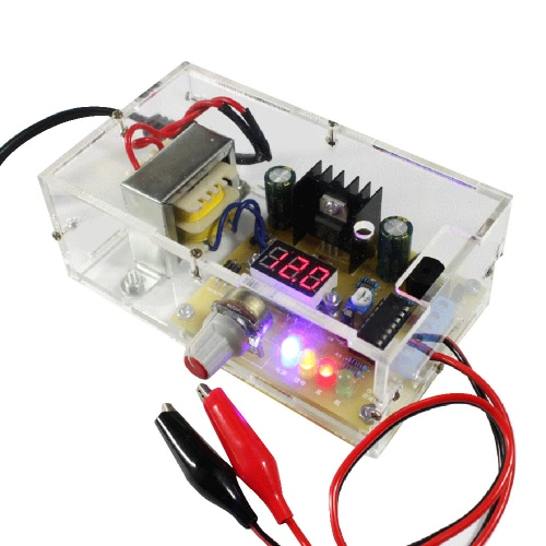 LM317 1.25 v-12V tensione regolata continuamente regolabile Power Supply Kit fai da te UE