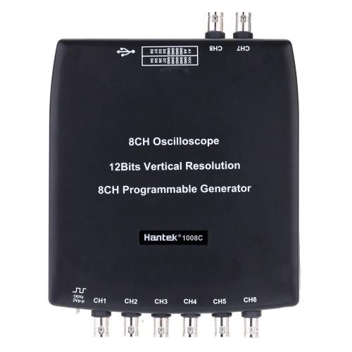 Hantek 1008C USB 8CH 2.4MSa/s Automotive Diagnostic Oscilloscope D