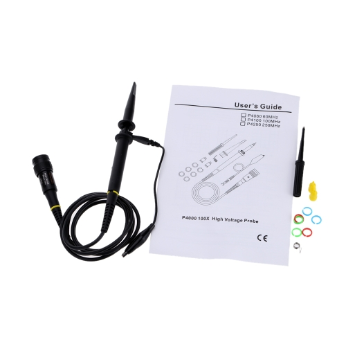 KKmoon P4250 Haute tension Oscilloscope sonde 2KV 100: 1 250 MHz Alligator Clip sonde de Test
