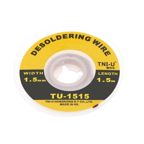 TNI-U TU-1515 1,5mm Entlötlitze Entlötkolben Wire Präzisions Braid Handlich Löten Docht