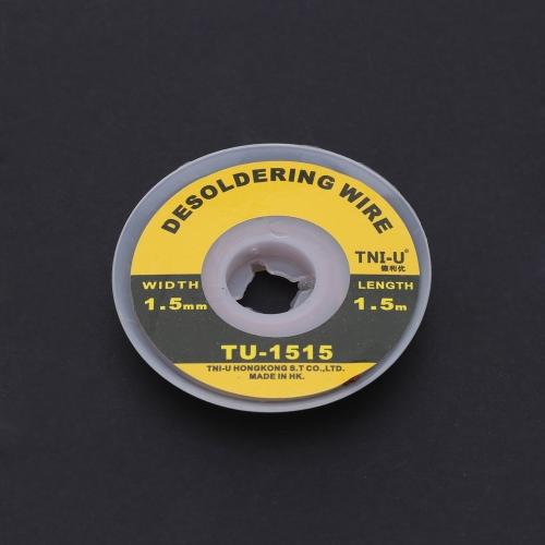 TNI-U TU-1515 1.5mm Solder Wick Precision Desoldering Wire Braid Handy Soldering Wick E0734