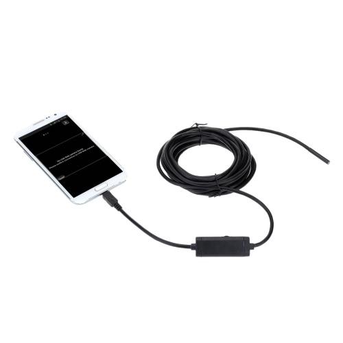 5 5mm 2m Mini Digital USB Endoscope Inspection Camera Adjustable Brightness  for Windows Android
