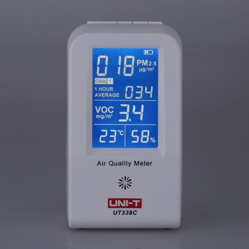 KKmoon UNI-T UT-338C High Precision Indoor VOC PM2.5 Data Logger Detector Air Monitor Thermometer Hygrometer