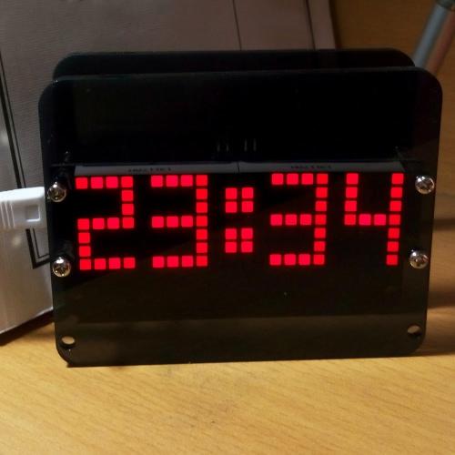 DS3231 Творческие DIY матричный Светодиодные часы рабочего комплекта точный электронный цифровой будильник температура дисплей фото