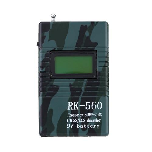 RK560 50MHz-2,4 GHz fréquence des terminaux portables compteur compteur CTCSS DCS Radio test