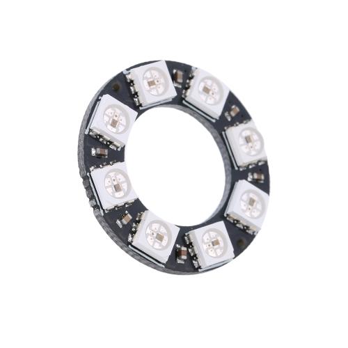 WS2812 5050 RGB 8 LED Round Lamp Development Board Module