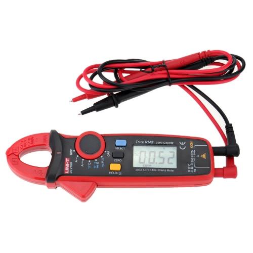 UNI-T UT210D numérique AC/DC courant tension résistance Clamp Meter multimètre température mesure Auto gamme de capacité