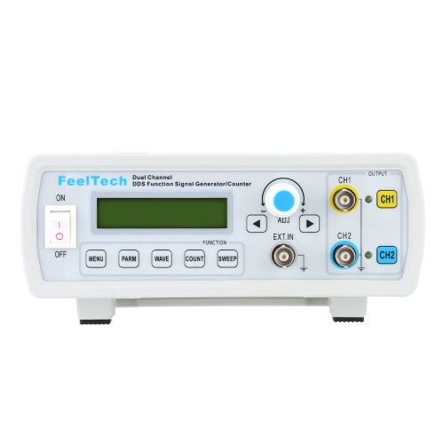 High Precision Digital Dual Channel DDS Function Signal Generator Sine/Square Waveform Frequency Meter Counter 12MHz