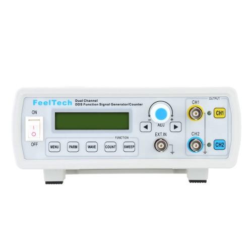 高精度デジタル ・ デュアル ・ チャンネル DDS 機能信号ジェネレーター サイン/スクエア波形周波数メーター カウンター 6 MHz
