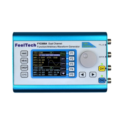 High Precision Digital DDS Dual-channel Multifunction Signal Source Generator Arbitrary Waveform/Pulse Generator Frequency Meter 200MSa/s 12MHz