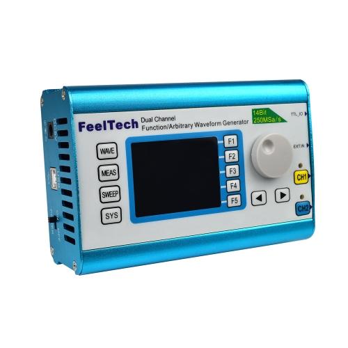 Высокоточный цифровой DDS двухканальный многофункциональный генератор сигналов Генератор произвольной формы / импульсный генератор частоты 250MSa / s 25MHz