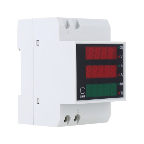 200-450V Multi-functional Digital Din Rail Current Voltage Power Ammeter Voltmeter Display Meter