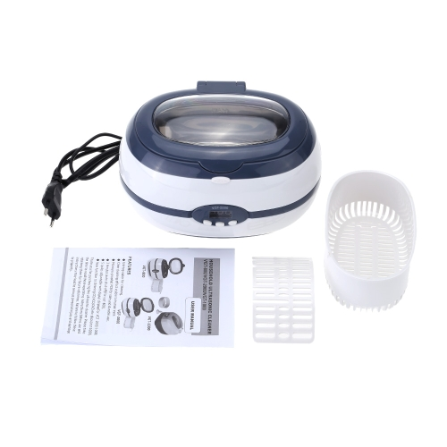 AC220V-240V 600ml Digital Household Ultrasonic Cleaner Glasses Watch Jewelry Shaver Head Cleaning Machine
