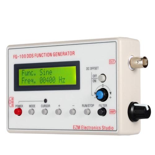 1HZ - 500KHZ DDS fonctionnelle Signal Generator Sine + carré + Triangle, forme d'onde en dents de scie