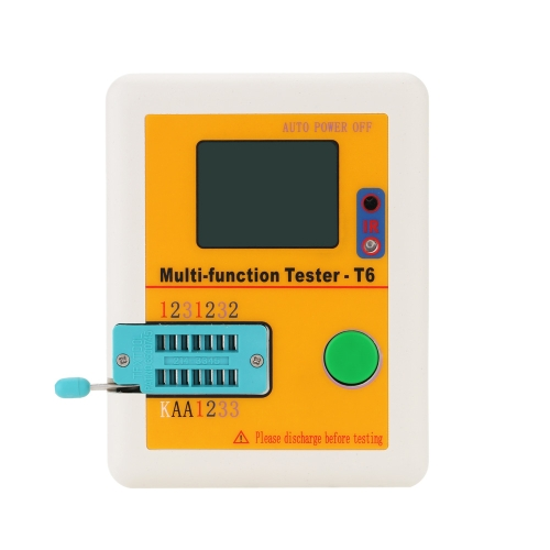 LCR-T6 Transistor Tester Multi-functional LCD Backlight Didoe Triode Capacitance Resistor Inductance MOSFET NPN PNP Triac MOS Detector